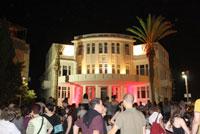Tel Avivs Bialik Street erstrahlt beim White Night Festival