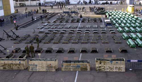 An Bord der Karin-A wurden 50 Tonnen Waffen gefunden