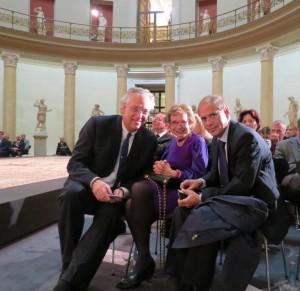v.l.n.r.: Michael Eissenhauer, Shelby White, Yakov Hadas-Handelsman (Foto: Botschaft)