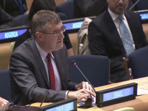 Botschafter David Roet spricht vor dem UN-Sicherheitsrat