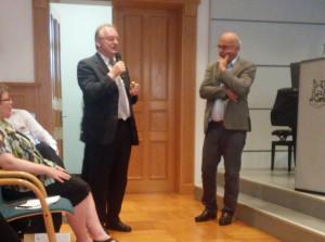 Ministerpräsident Haseloff bei der Fragerunde