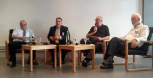 Abschlussrunde Gerhard Miesterfeld, Rogel Rachman, Lütkemeier, Propst Siegfried Kasparick